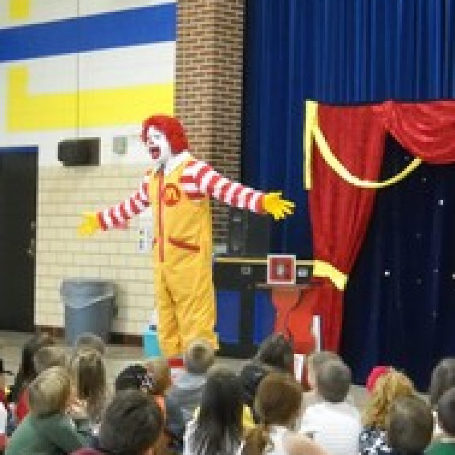 Ronald McDonald visits Point Elementary