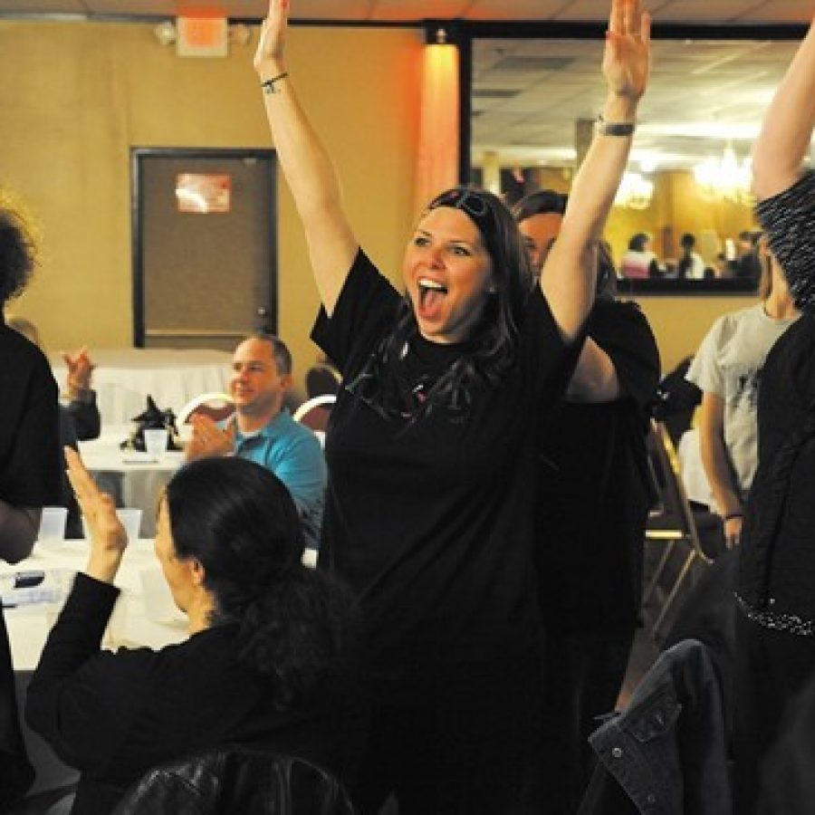 Mehlville School District residents celebrate the historic passage of Proposition R at a victory party at Andre's South in 2015. The district may seek to place another bond issue on the ballot this November.