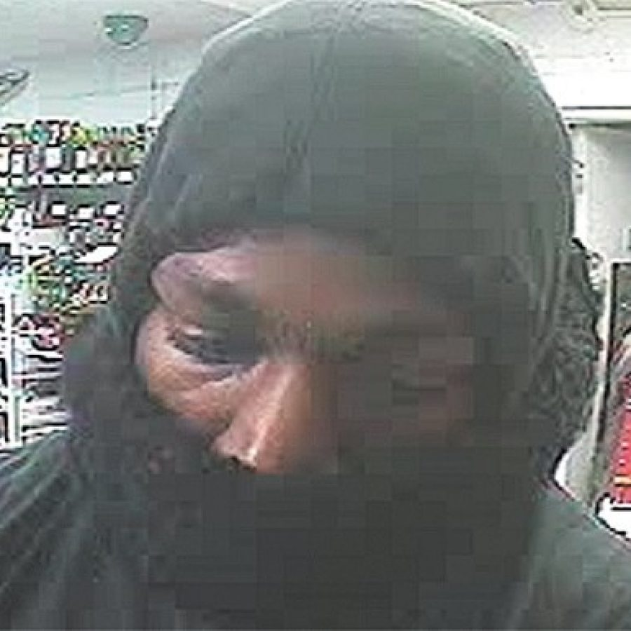 St. Louis County Police are seeking the public's help in identifying this suspect in today's armed robbery at the Circle K gas station at 9311 S. Broadway.