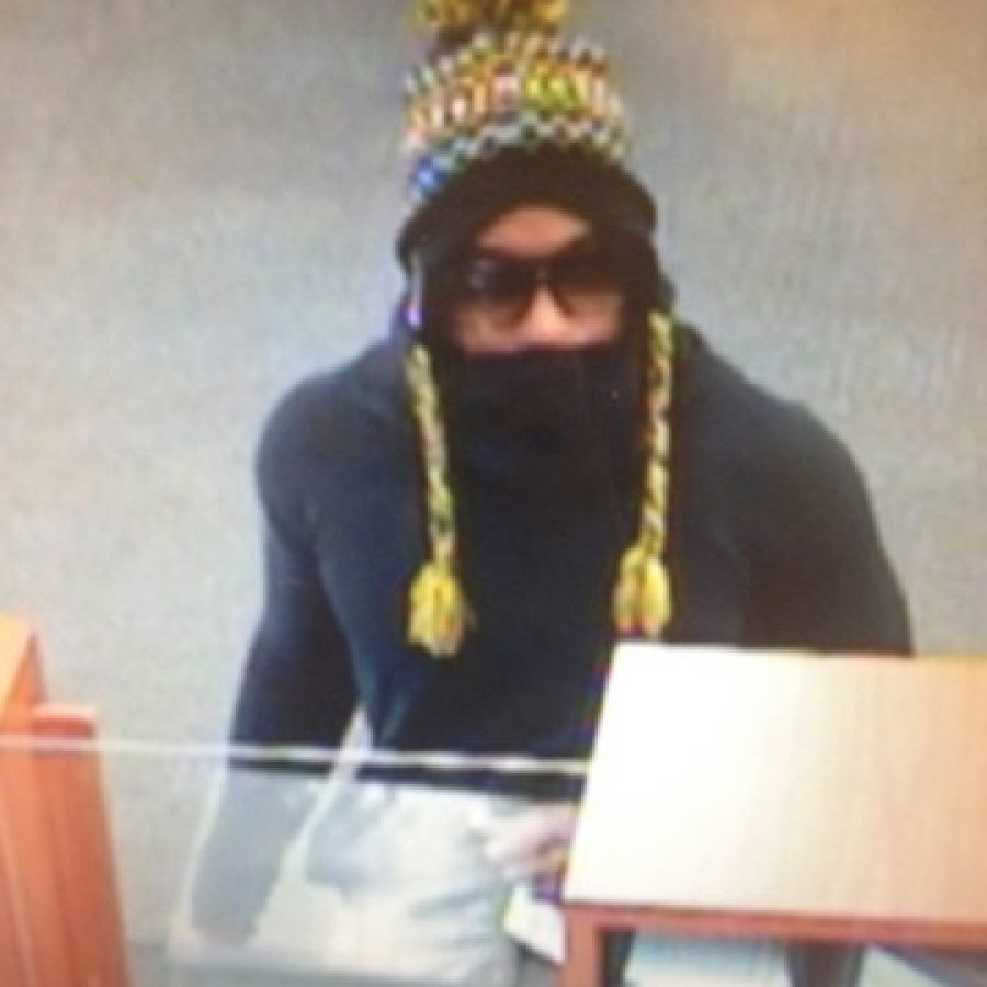 Police are seeking the public's help in identifying this suspect in today's robbery of the PNC Bank on Gravois Road in Affton.