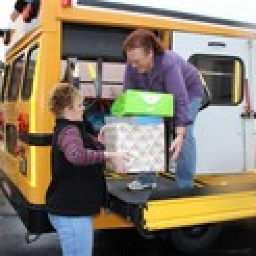 Bus drivers brighten Christmas for district families