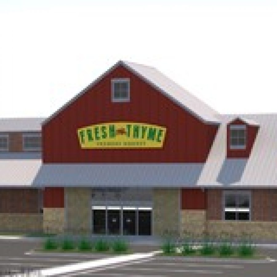 Above, Fresh Thyme's rendering of the original Green Park store proposal.