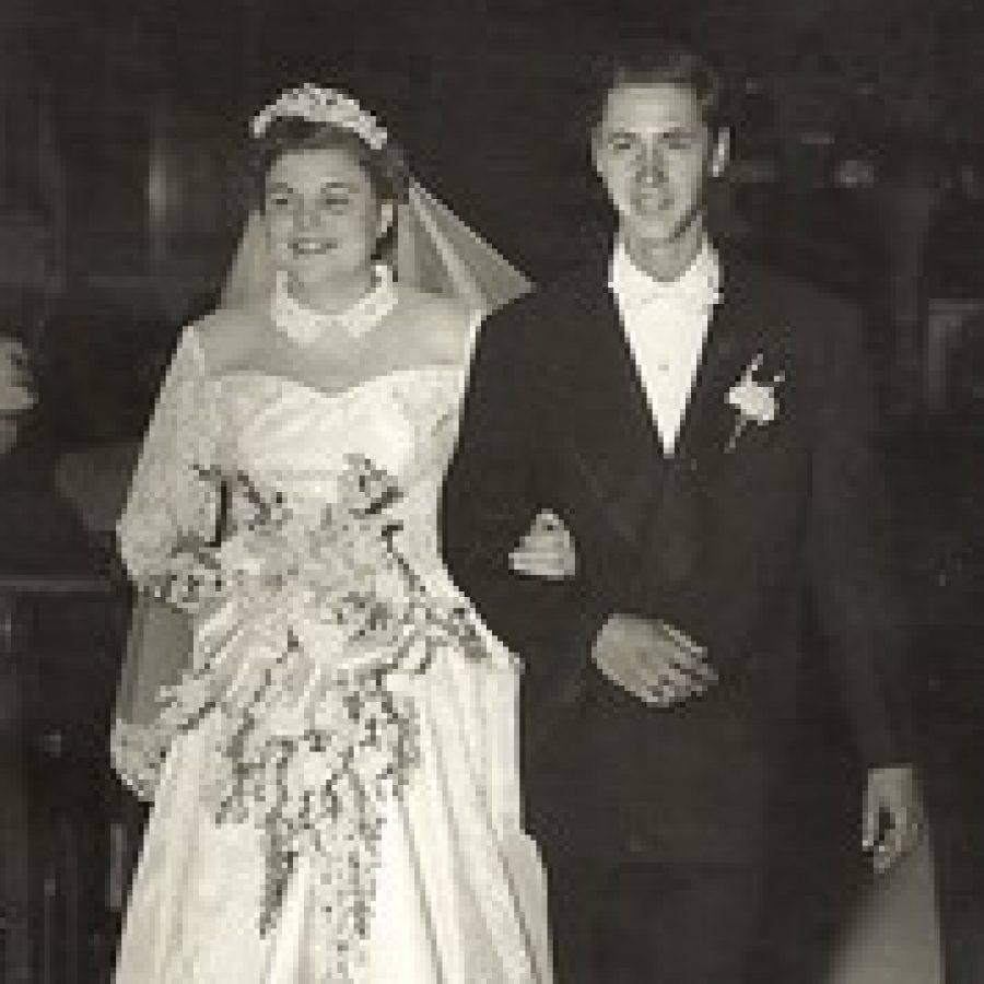 Mr. and Mrs. Kerlick on their wedding day