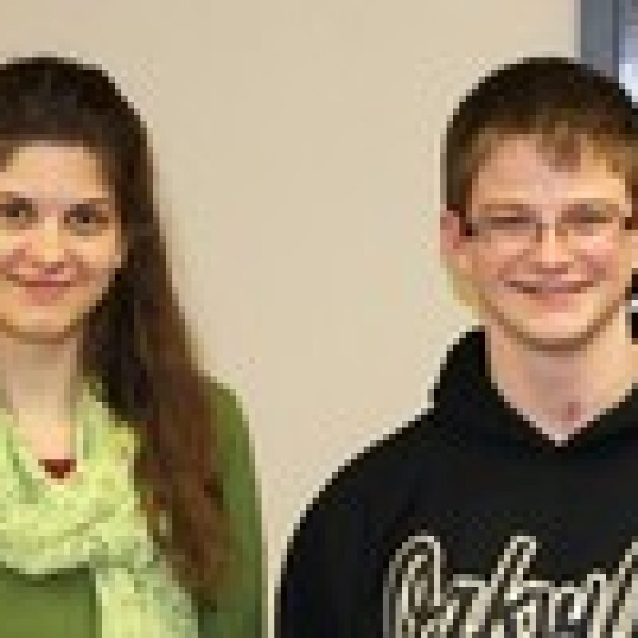 Oakville High School seniors Clarisse Caliman and Charles Meyer have been selected for the 2012 Missouri Scholars 100.