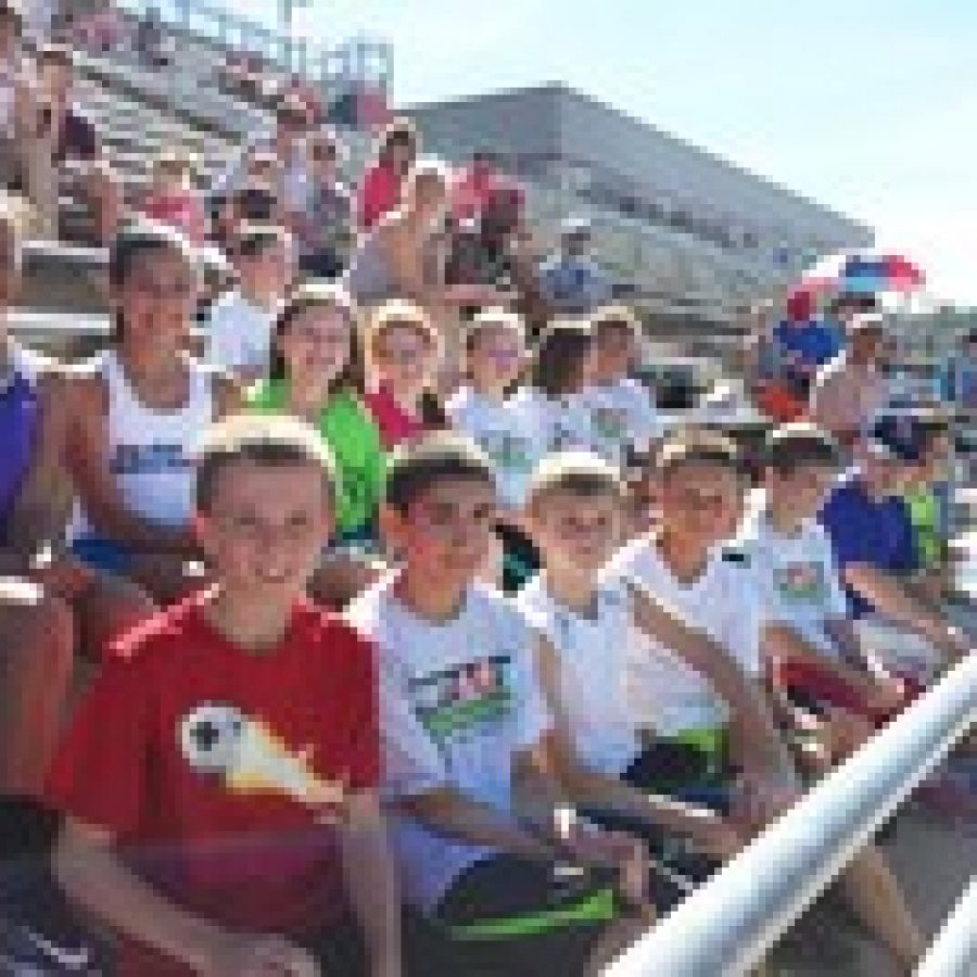 Sappington Elementary School students competed at the Hershey's Track and Field Games in Jefferson City.