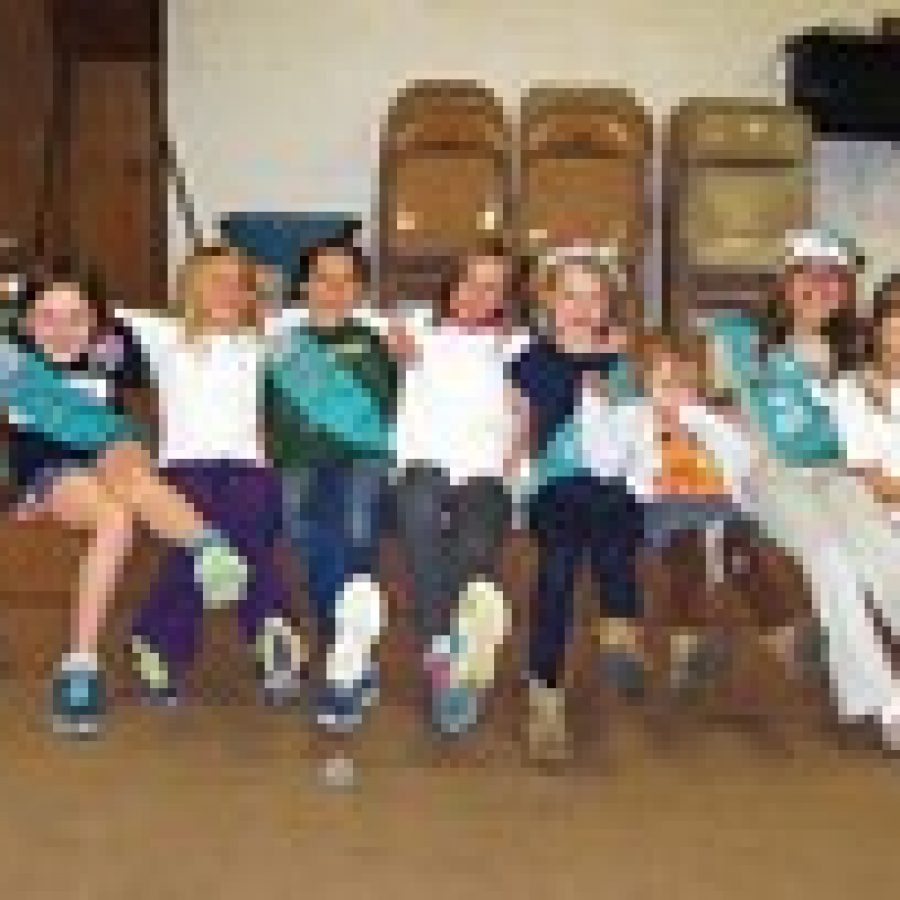 Members of Long Elementary Junior Girl Scout Troop 3092 organized Operation SWAPS-Tastic, an event to celebrate Girl Scout traditions and benefit Lydia's House.