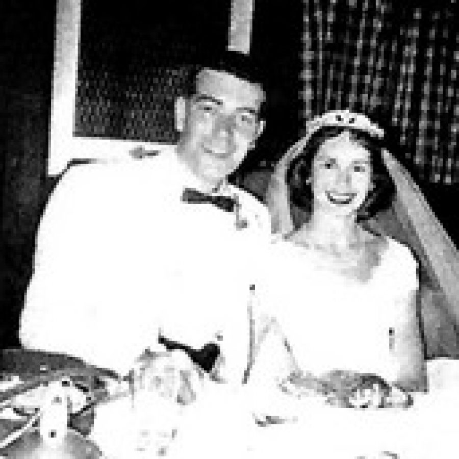 Mr. and Mrs. Franks on their wedding day