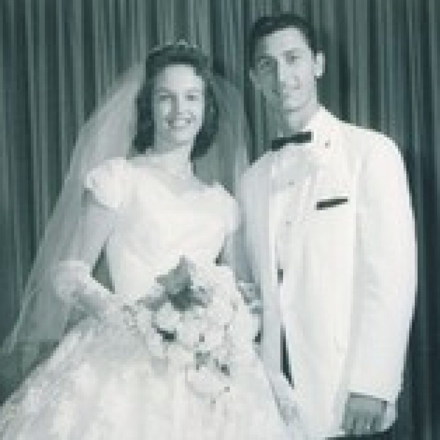Mr. and Mrs. O'Rourke on their wedding day