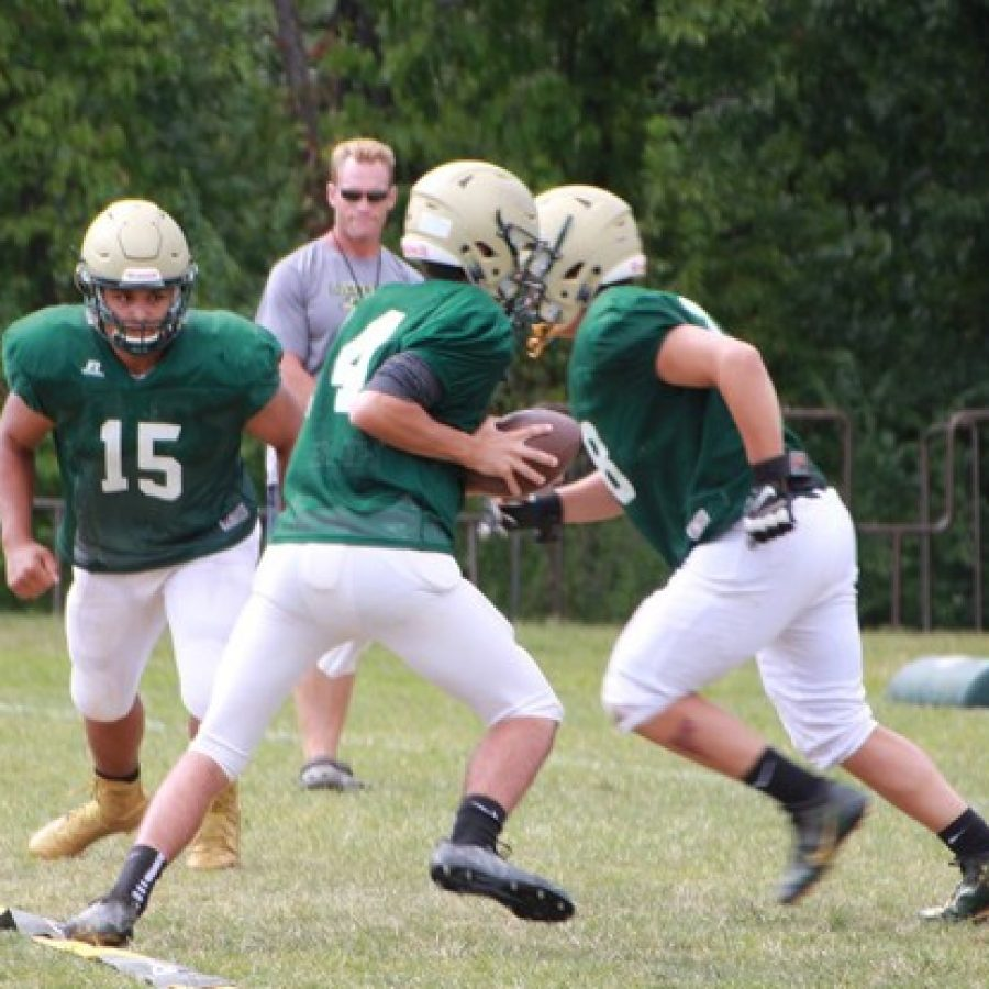 The Football Flyers scrimmage in advance of their win last Friday.