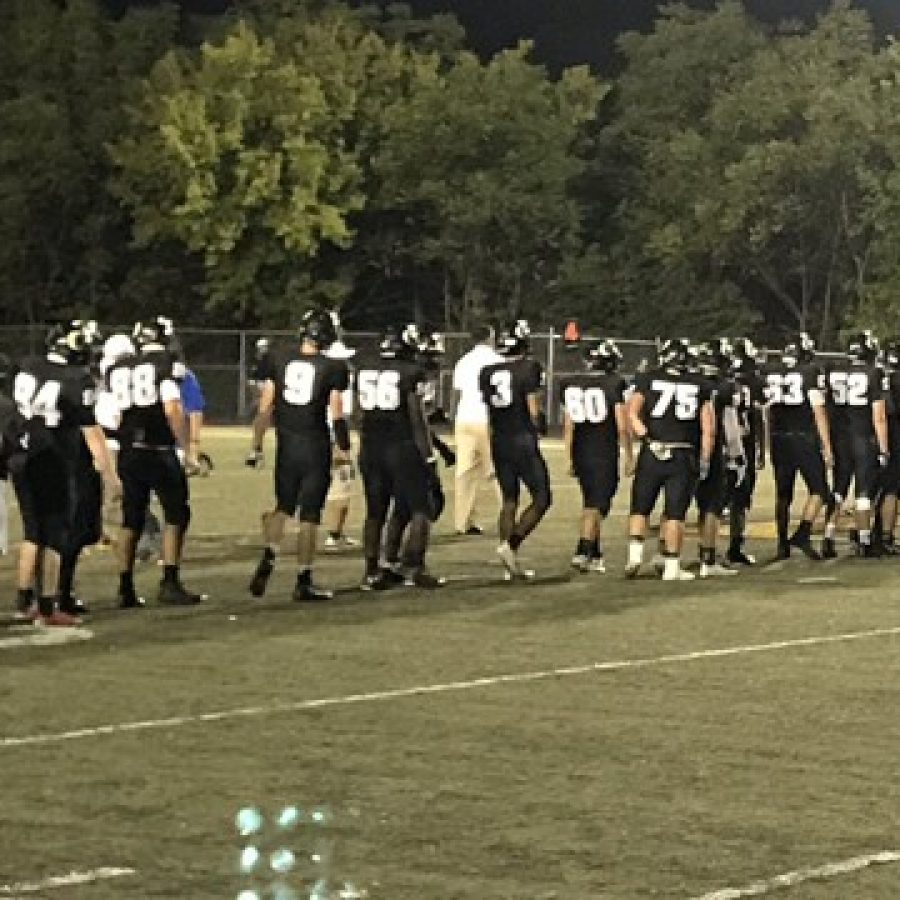 The football Tigers after earning their homecoming victory last week. Photo by Ross Bullington.