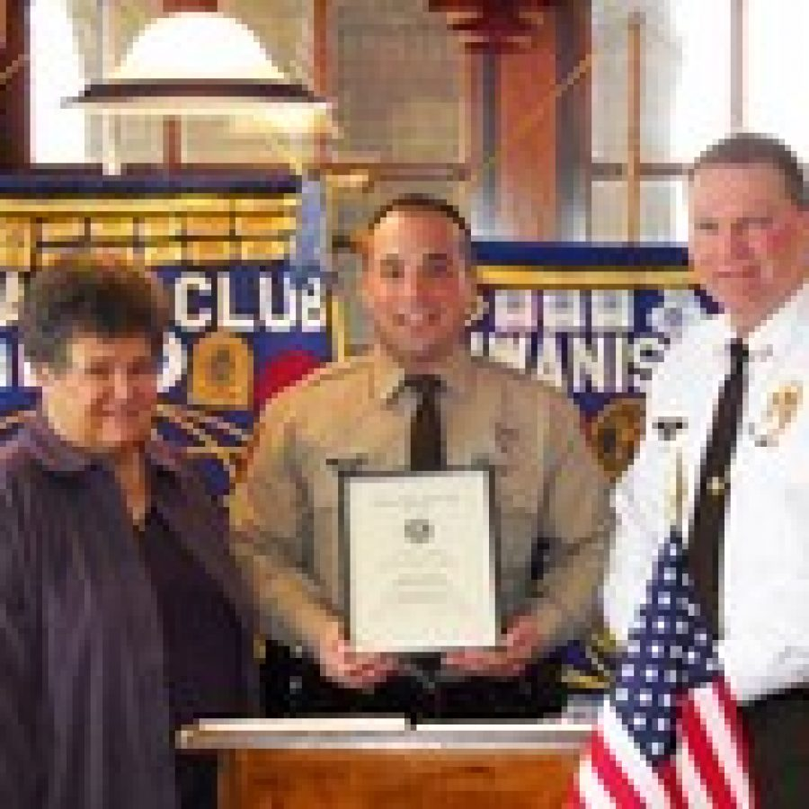 Kiwanis Club honors police officer, firefighter
