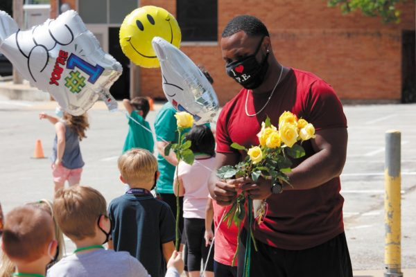 Crestwood Elementary surprised Mr. DC with a socially-distanced parade and celebration Friday, Sept. 4, for winning 2021 Missouri Teacher of the Year.