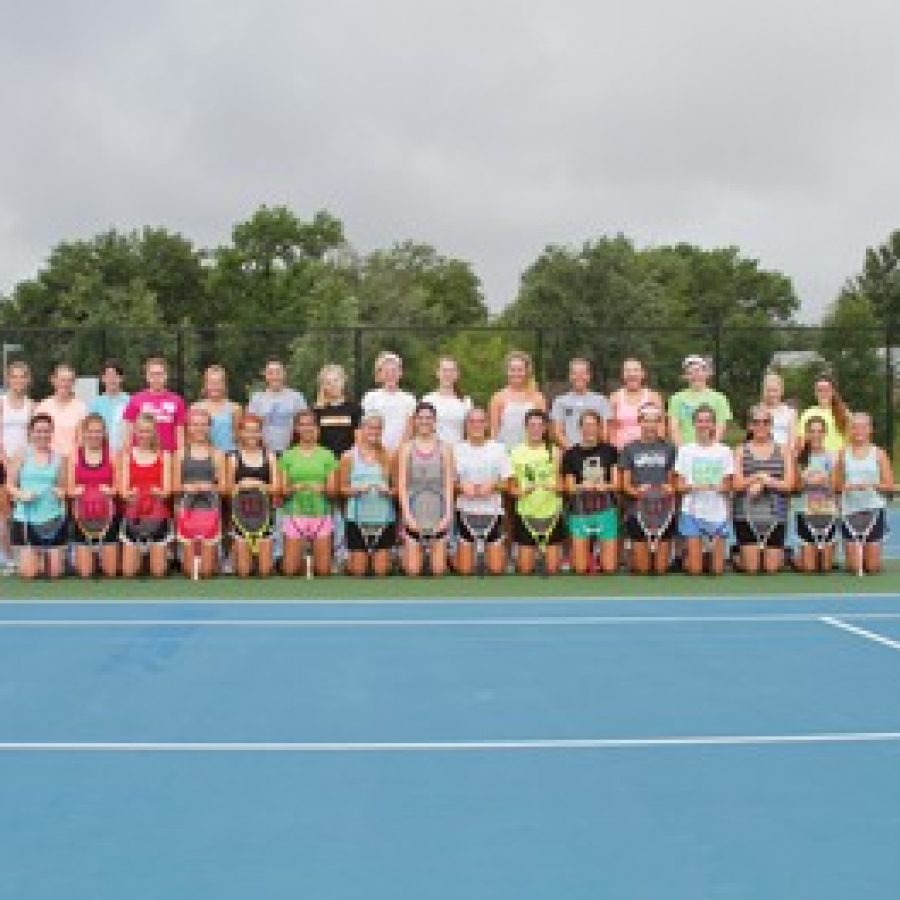 Oakville High head coach Bill Ebert expects to see significant improvement from his girls' tennis squad throughout the course of the 2014 season.
