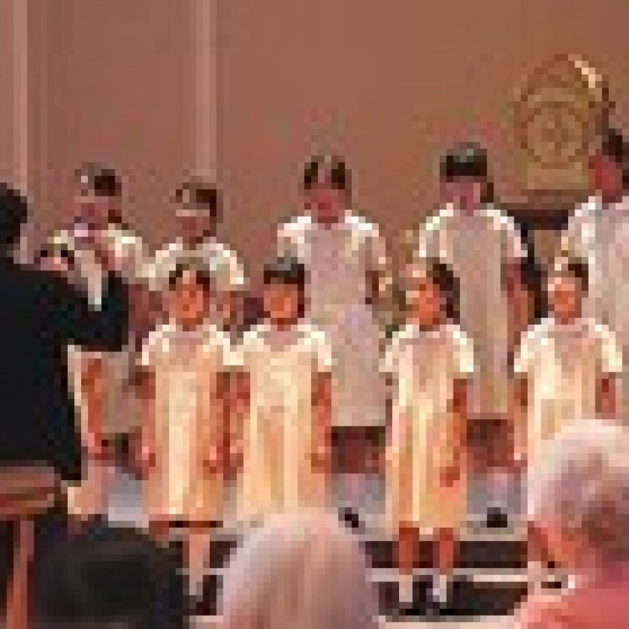 Among the stops on its American tour, the Notre Dame Elementary School choir from Kyoto, Japan, performed for the School Sisters of Notre Dame July 27.