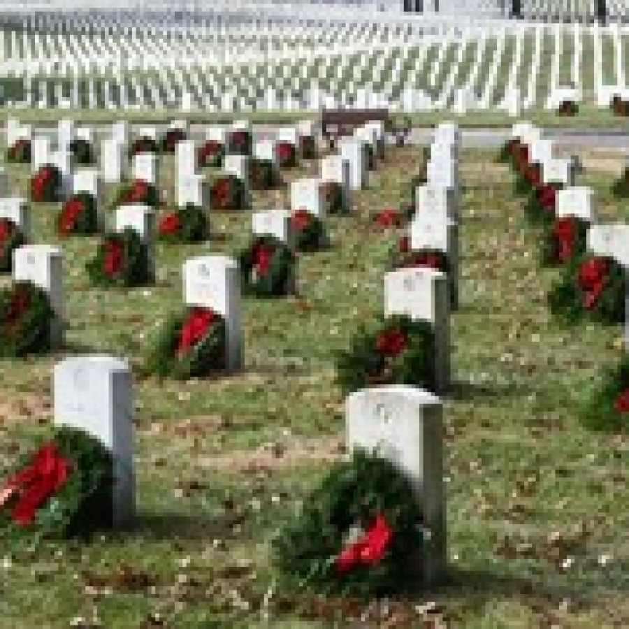 The Missouri Wing of the Civil Air Patrol, U.S. Air Force Auxiliary, hosted its nine annual Wreaths Across America Day ceremony at Jefferson Barracks National Cemetery.