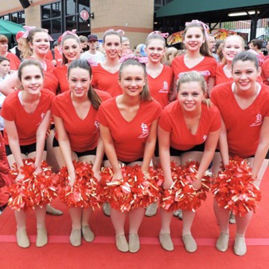 Lancerettes perform at Busch Stadium