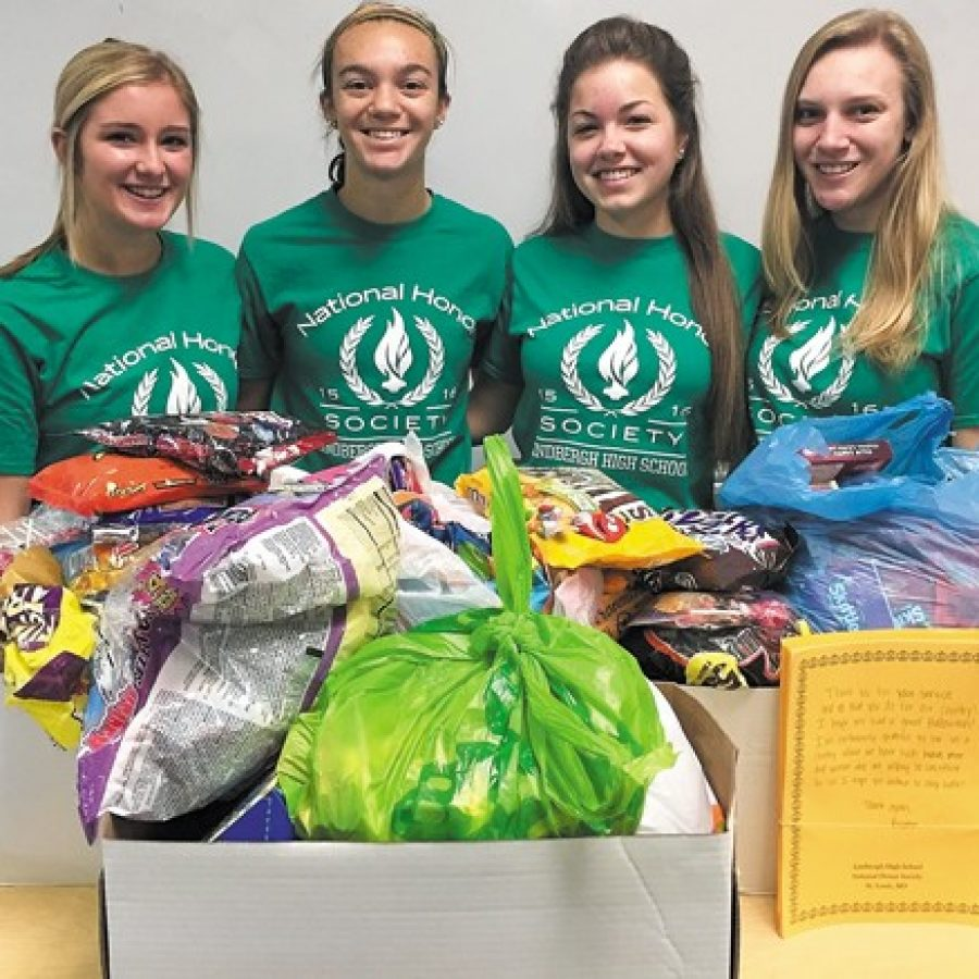 Lindbergh NHS shares leftover candy with troops