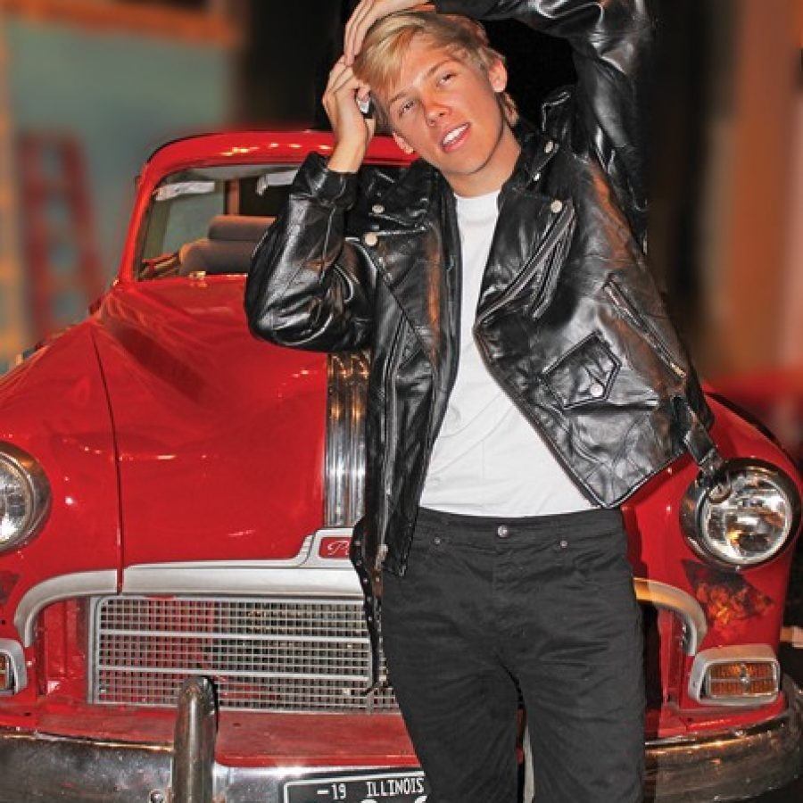 Danny Bitter stars as Danny Zuko in Mehlville High School's current musical production, Grease, with performances the next two weekends.