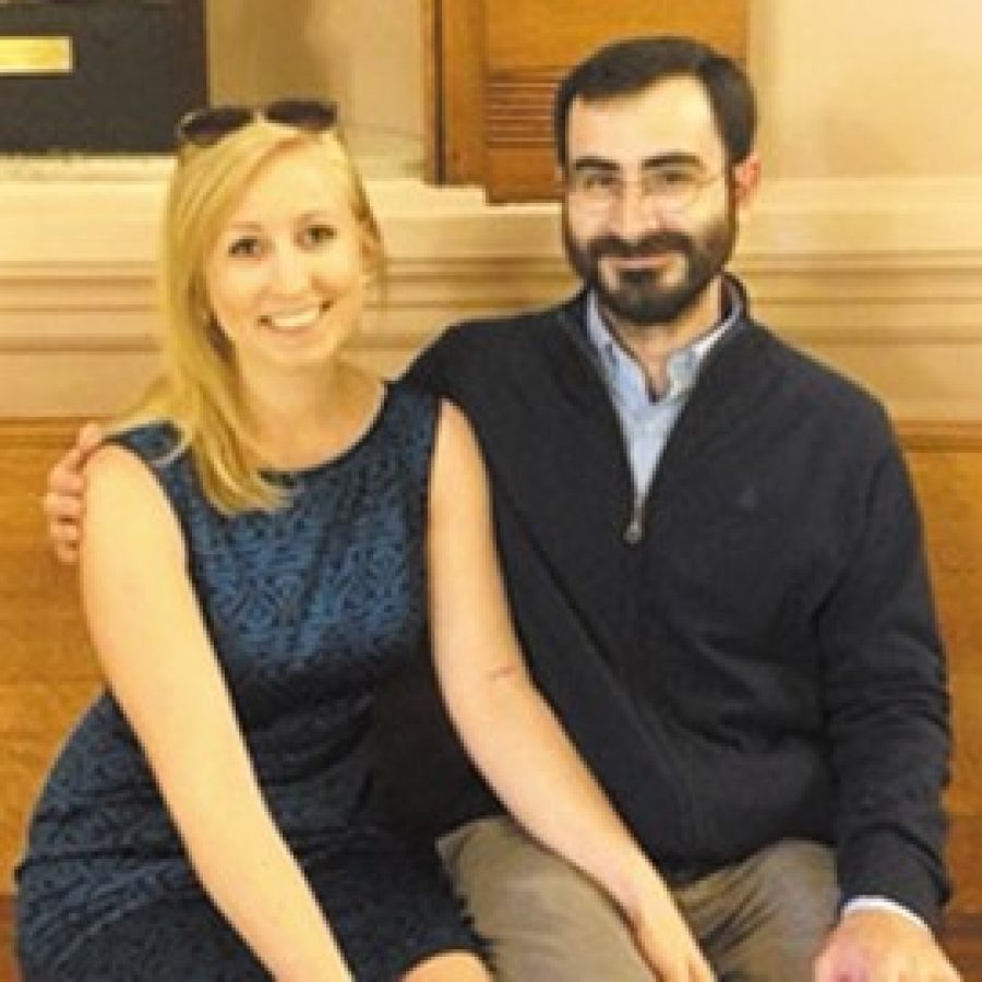 Lauren Miller and César Gutiérrez