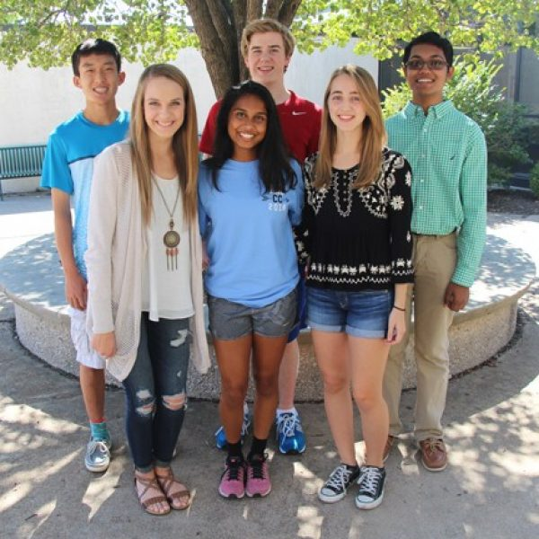 Lindbergh High School National Merit Scholarship Program semifinalists, back row, from left, are: Brett Kim, Nathan Collins and Rounak Bera. Front row, from left, are: Kaitlyn Crutchley, Shalaka Nimmagadda and Samantha Sample.
