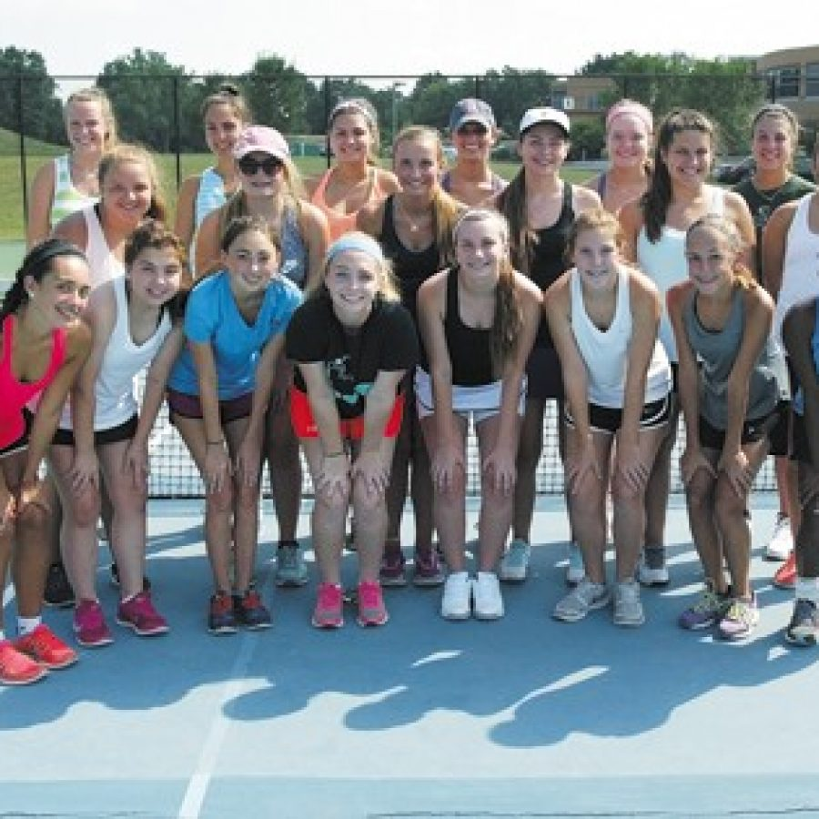 The Mehlville High School girls' tennis team continues to make strides under head coach Jill Wojewuczki, who took over the program in 2013. Bill Milligan photo