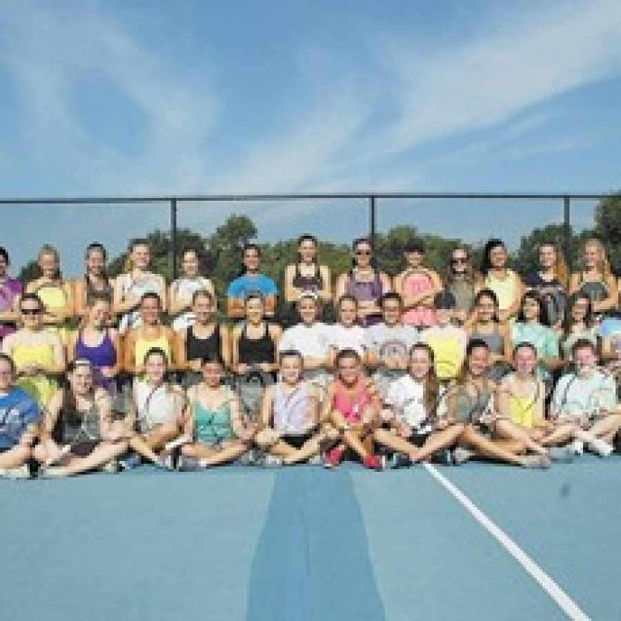 Though he has just a handful of returning players, Oakville High head coach Bill Ebert feels good about the potential of his girls' tennis team. Bill Milligan photo