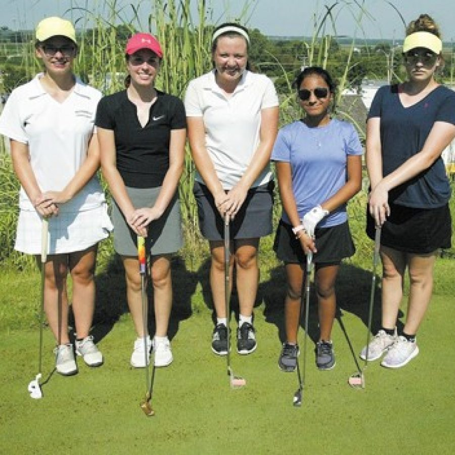 The Mehlville High girls' golf team is optimistic about the 2016 season, as the Panthers return some experienced players and add some new talent. Bill Milligan photo