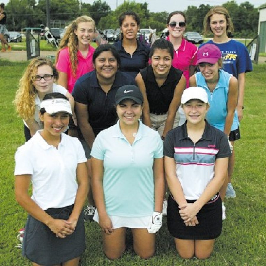 Lindbergh High head coach Mike Tyler says his girls' golf team is easily one of the largest in the area in terms of numbers. Bill Milligan photo