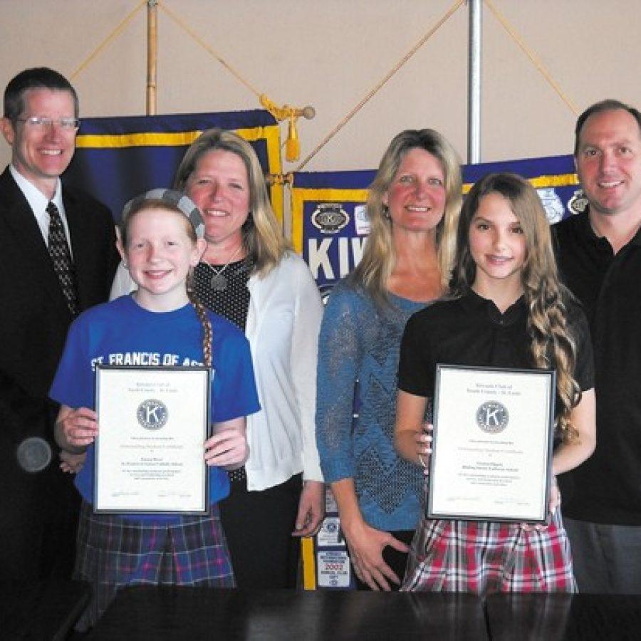 Kiwanis Club honors Outstanding Students at St. Francis, Abiding Savior