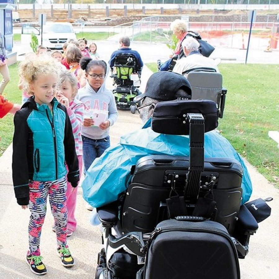 Beasley first-graders visit VA Hospital