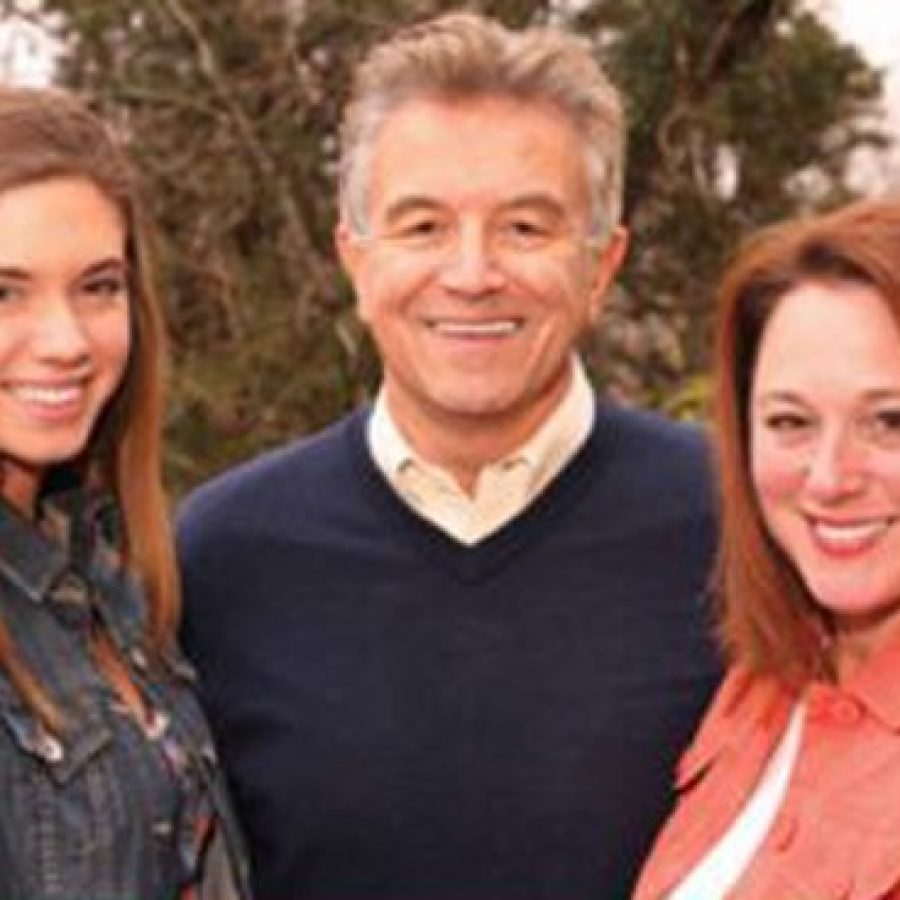 Ernie Trakas, middle, with his daughter Allyson, left, and wife, Lori.
