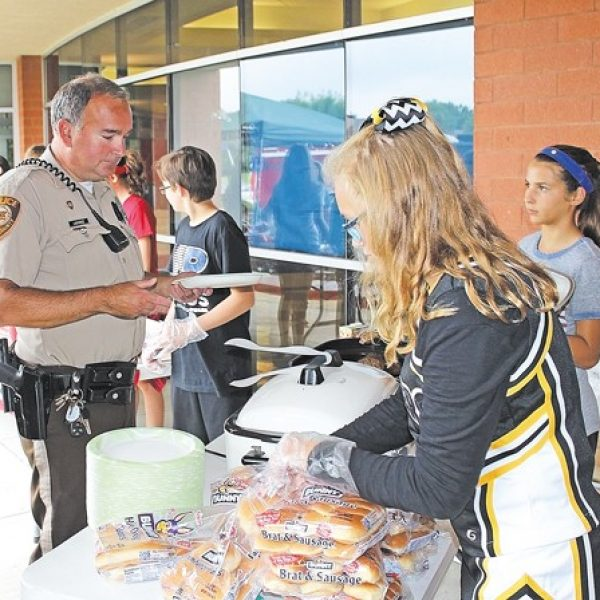 Bernard Middle School hosts First Responder Barbecue