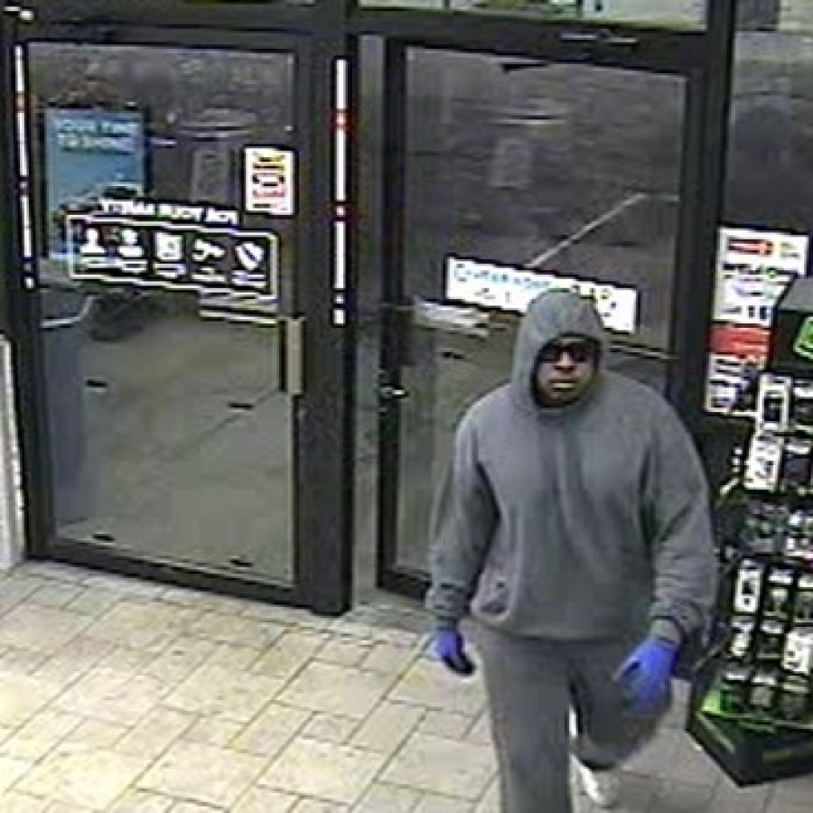 St. Louis County Police Department officers are seeking the public's help in identifying this suspect in a robbery at Circle K on Telegraph Road.