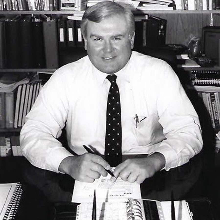 Former Mehlville Superintendent Bob Rogers, taken just before his retirement in 1996.