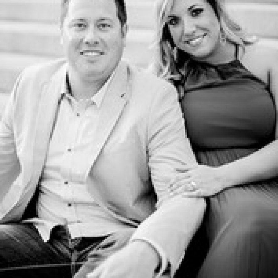 Adam Riley and Sara Stoessel