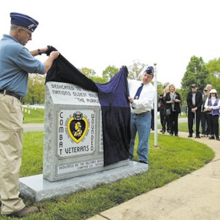 Purple Heart Monument dedicated