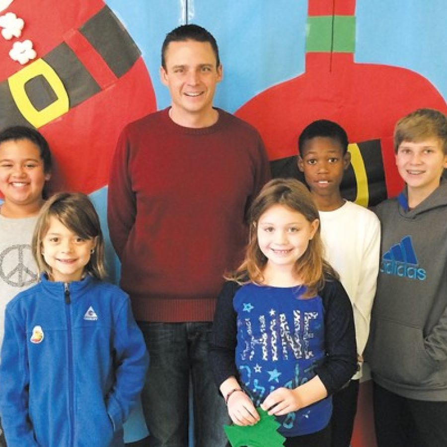 Terrific Kids at Wohlwend Elementary, pictured with Principal Dave Meschke.
