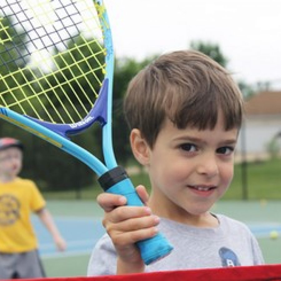 Weekly tennis camps take place Monday through Thursday at Bernard Middle School.