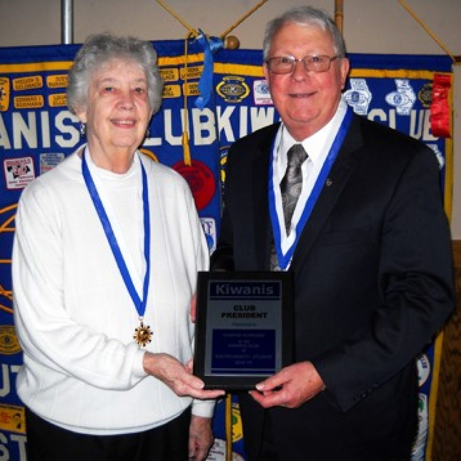 Kiwanis Club honors past president