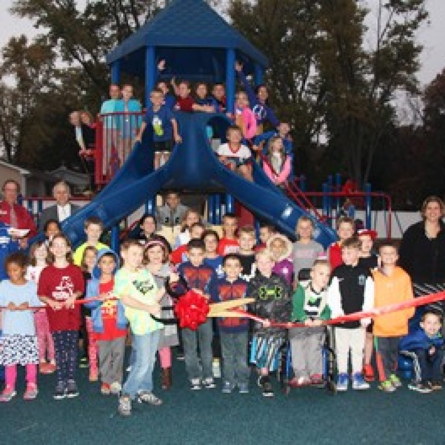 An all-school party and ribbon-cutting ceremony earlier this week marked the official opening of Concord Elementary School's  recently renovated, all-inclusive playground.
