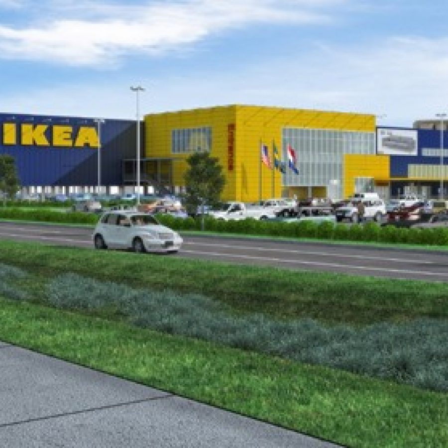 A rendering of the new IKEA store at 1 IKEA Way in the Cortex community in midtown St. Louis.