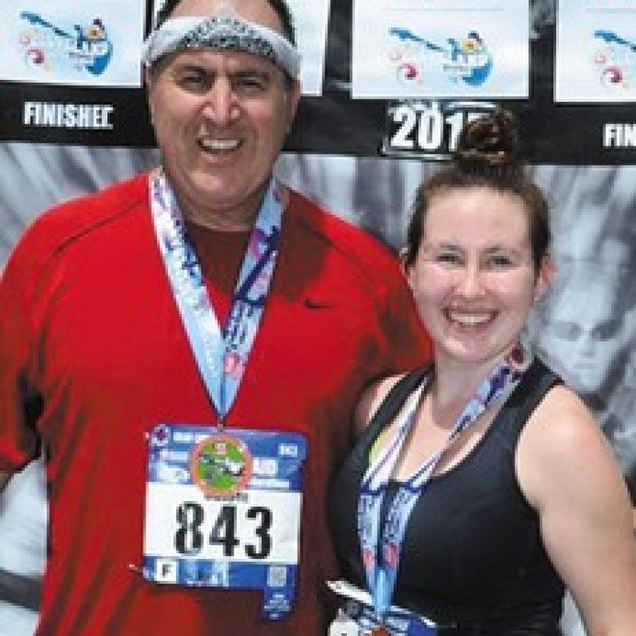Oakville father, daughter finish marathon