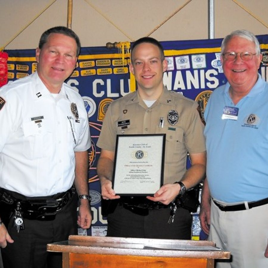 Kiwanis Club honors Officer of the Quarter