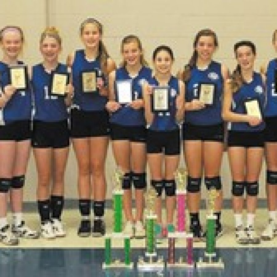 Queen of All Saints girls spike volleyball title
