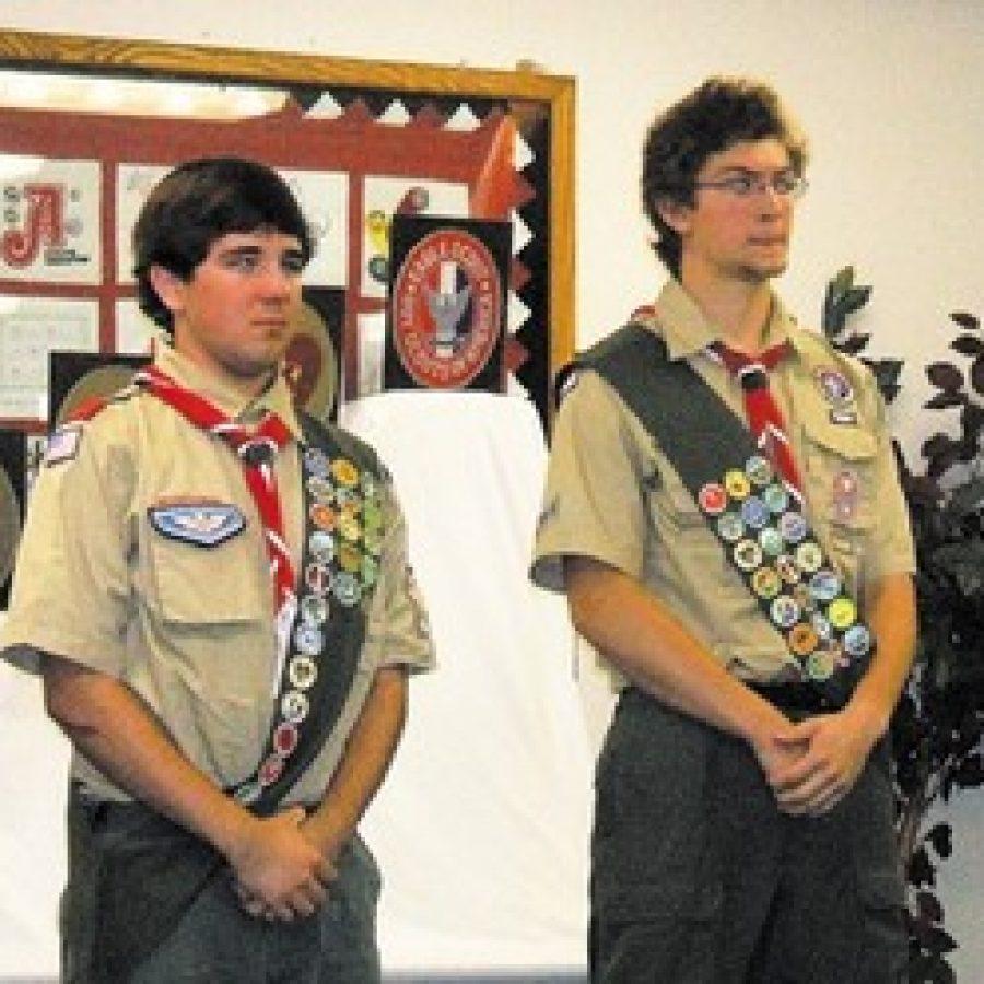 Boy Scouts earn rank of Eagle