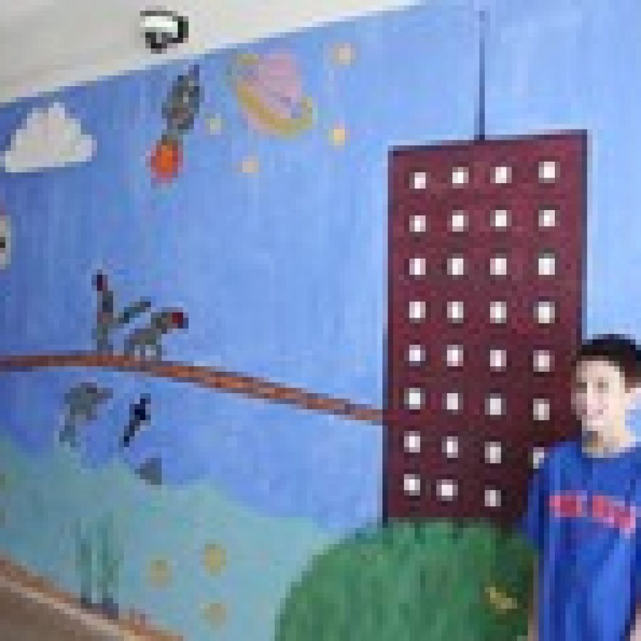 LEAP mural beautifies school