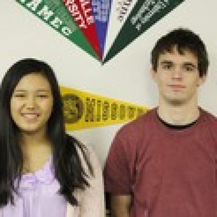 Lindbergh High School seniors Tiffany Lee and Zach Nowlis are two of just 360 students nationwide to earn a perfect score of 2,400 on the SAT this year.