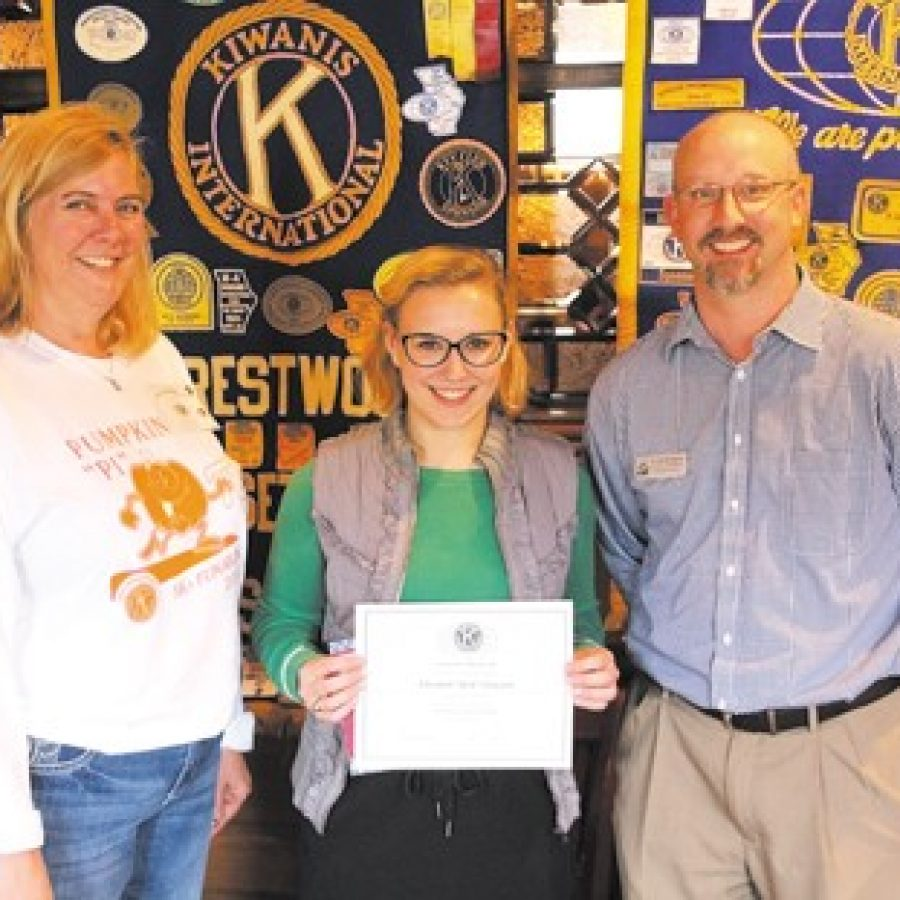 Kiwanis Club honors Student of the Month at Lindbergh High