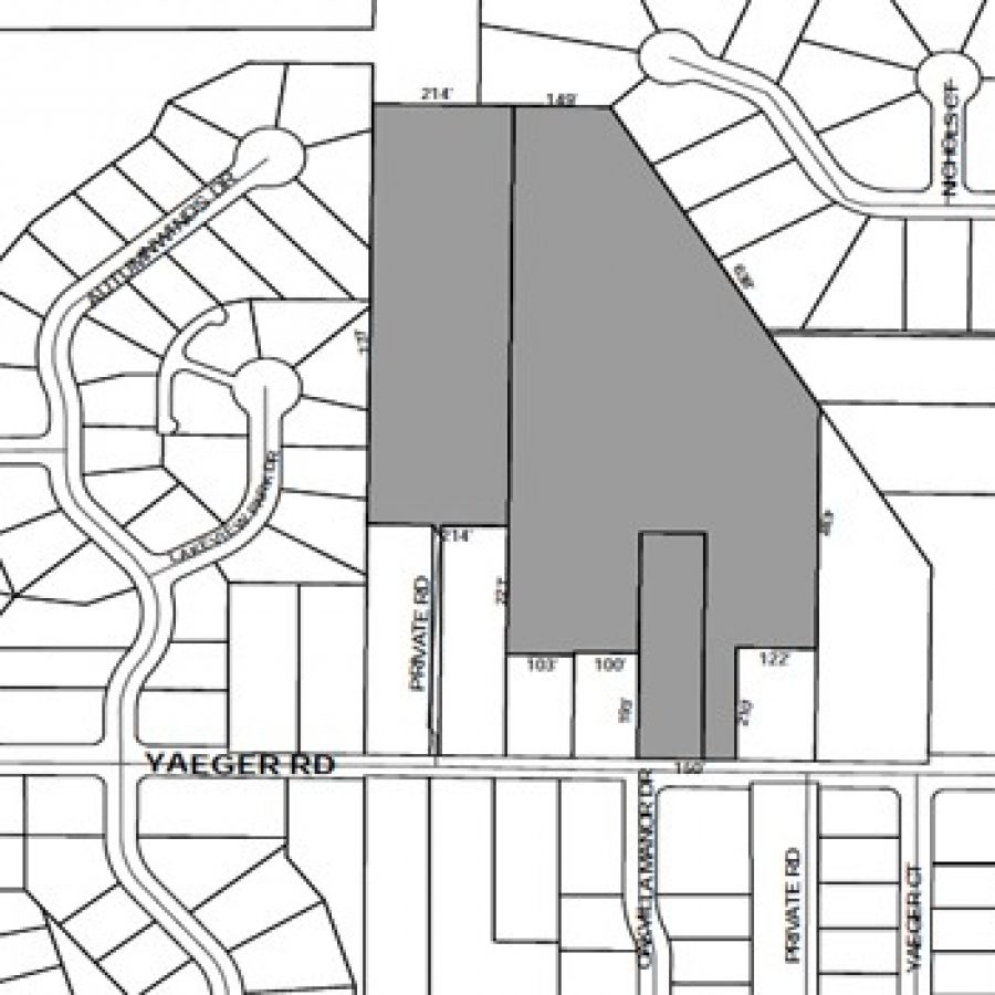 Above, a view of the Basler Tree Farm property, as outlined in county zoning documents.