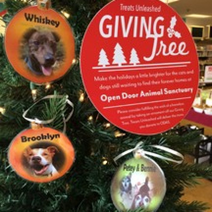 Giving Trees at Treats Unleashed help pets in need
